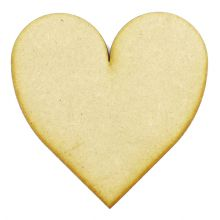 3mm MDF Wood Laser Cut Craft Shapes - Hearts 01 -  60mm